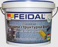 Фасадная рельефная краска FEIDAL Fassad-Relief economic 10л